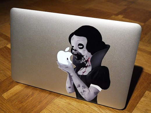 cool macbook stickers princess eating apple11